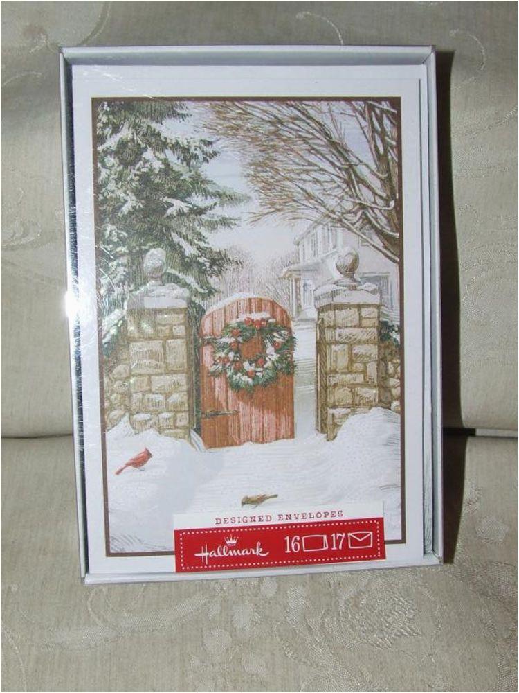hallmark christmas xmas greeting cards new box of 16