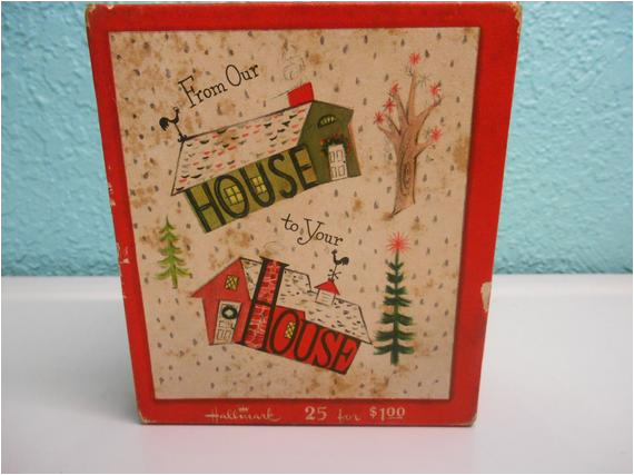 vintage hallmark greeting card box mid by souvenirandsalvage