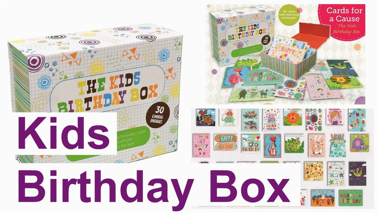 Box Of Kids Birthday Cards Usborne For A Cause Youtube