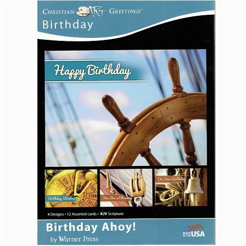 boxed christian birthday cards masculine birthday ahoy