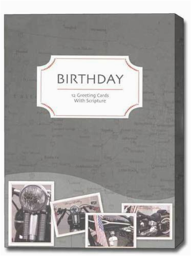 cruisin 12 boxed birthday cards with scripture ebay