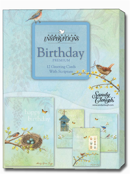 Boxed Christian Birthday Cards Sandy Clough Nesting Box Of 12 Assorted