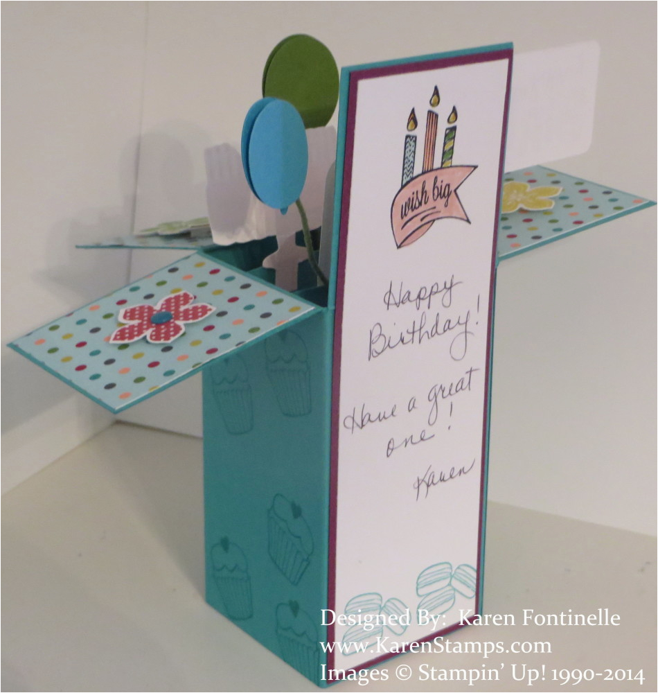 Boxes Of Birthday Cards Pop Up Box Card Stamping With Karen