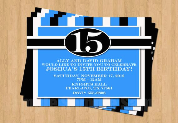 13th 15th 16th Birthday Boy Or Any Age