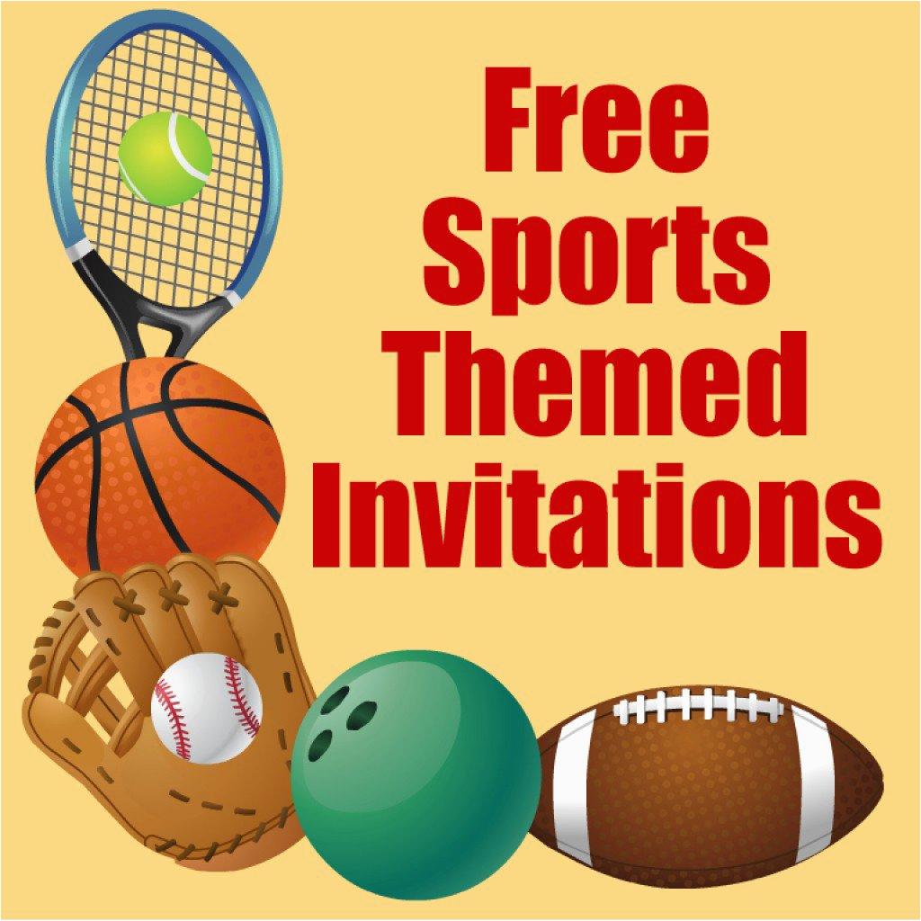 Boy Sports Birthday Invitations