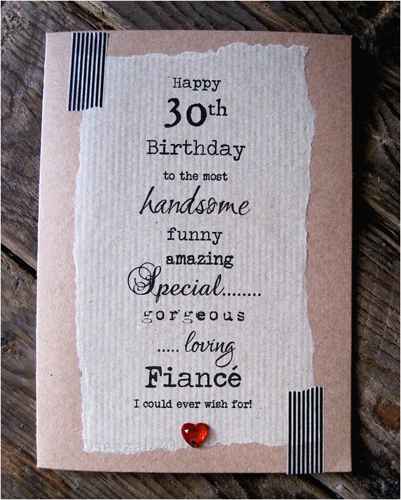30th birthday card for fiance handsome