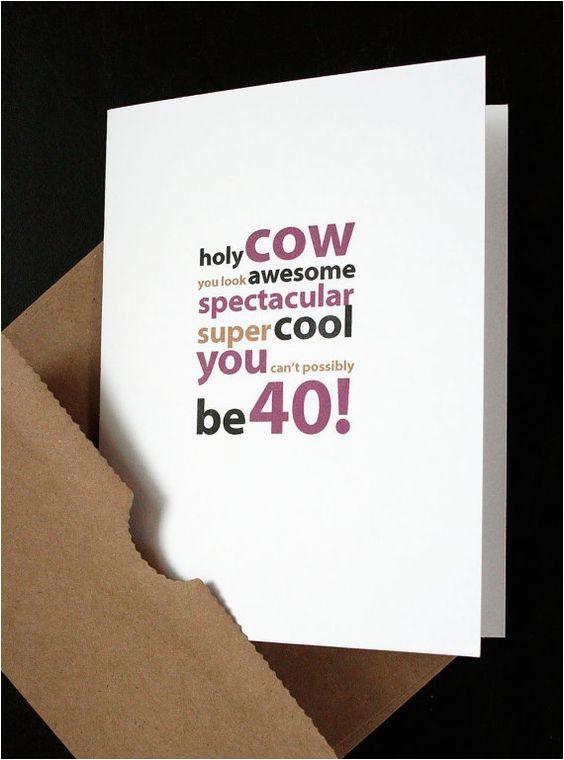 Boyfriend 40th Birthday Card Happy 40th Birthday Card for Him Her Friend Husband