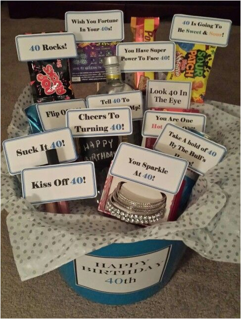 Boyfriend 40th Birthday Ideas Inside The Turning Gift Basket My
