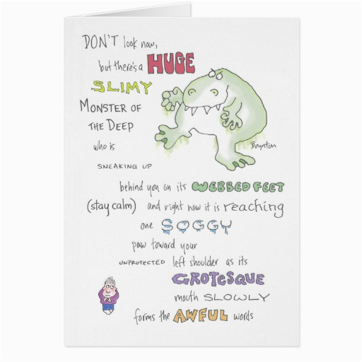 slimy monster birthday boynton cards 137420592666425943