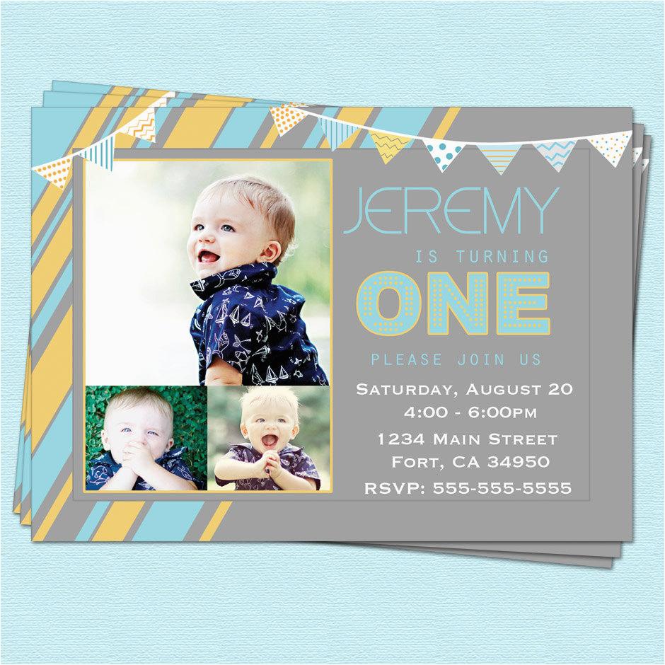 post boy 1st birthday invitations printable 92958