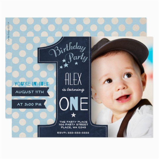 first birthday party invitation boy chalkboard 256973755724697045