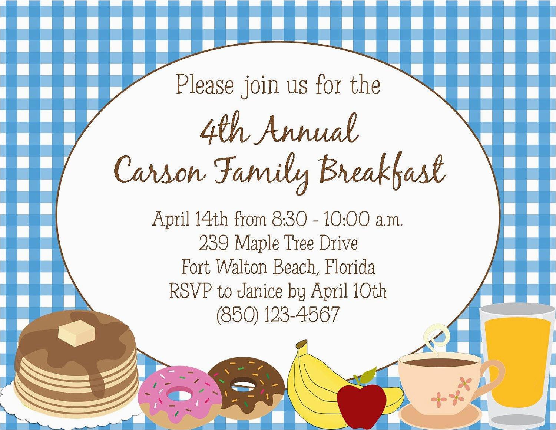 breakfast or brunch invitation diy