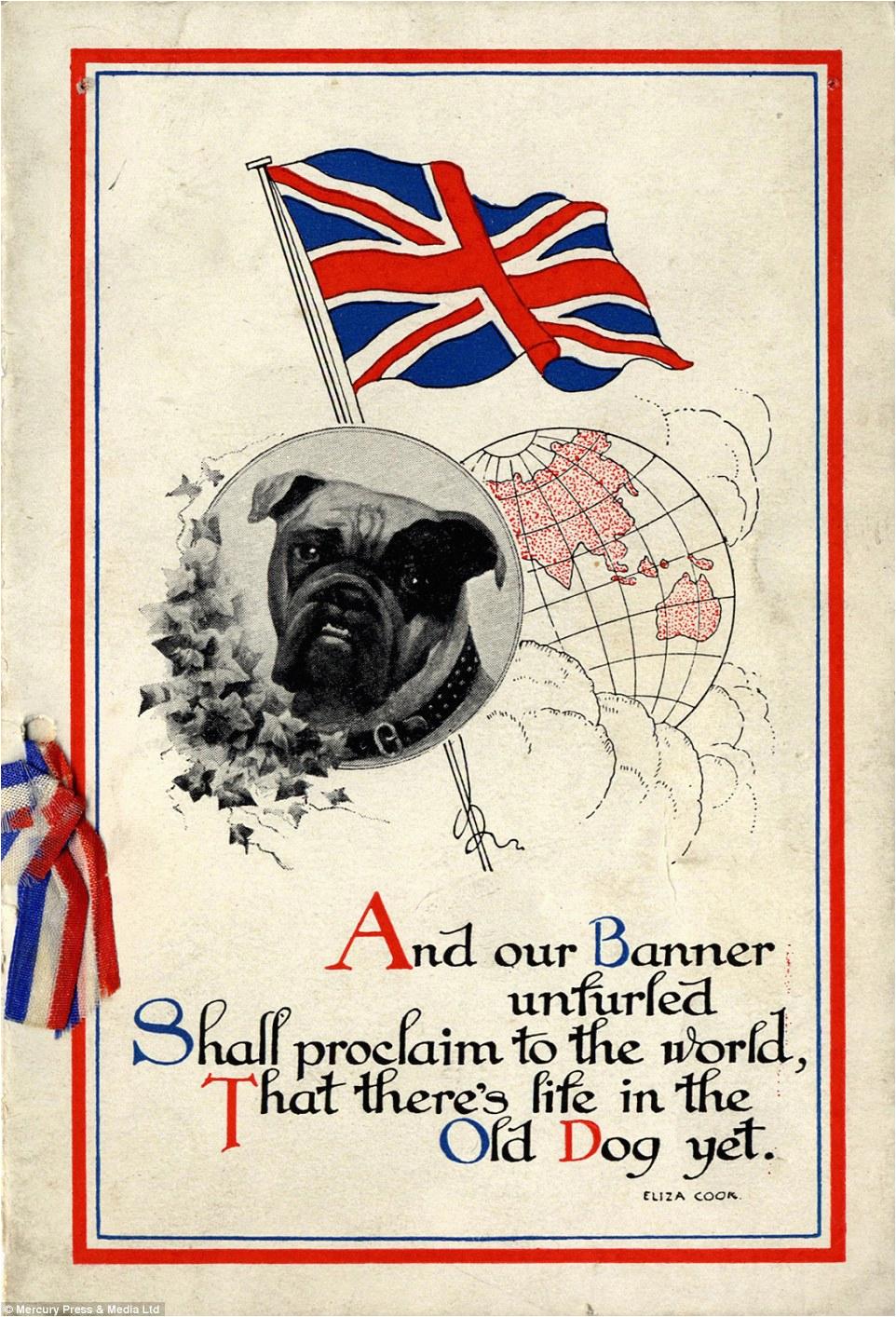 historic greetings cards glimpse humour stiff upper lip attitude life wwi line