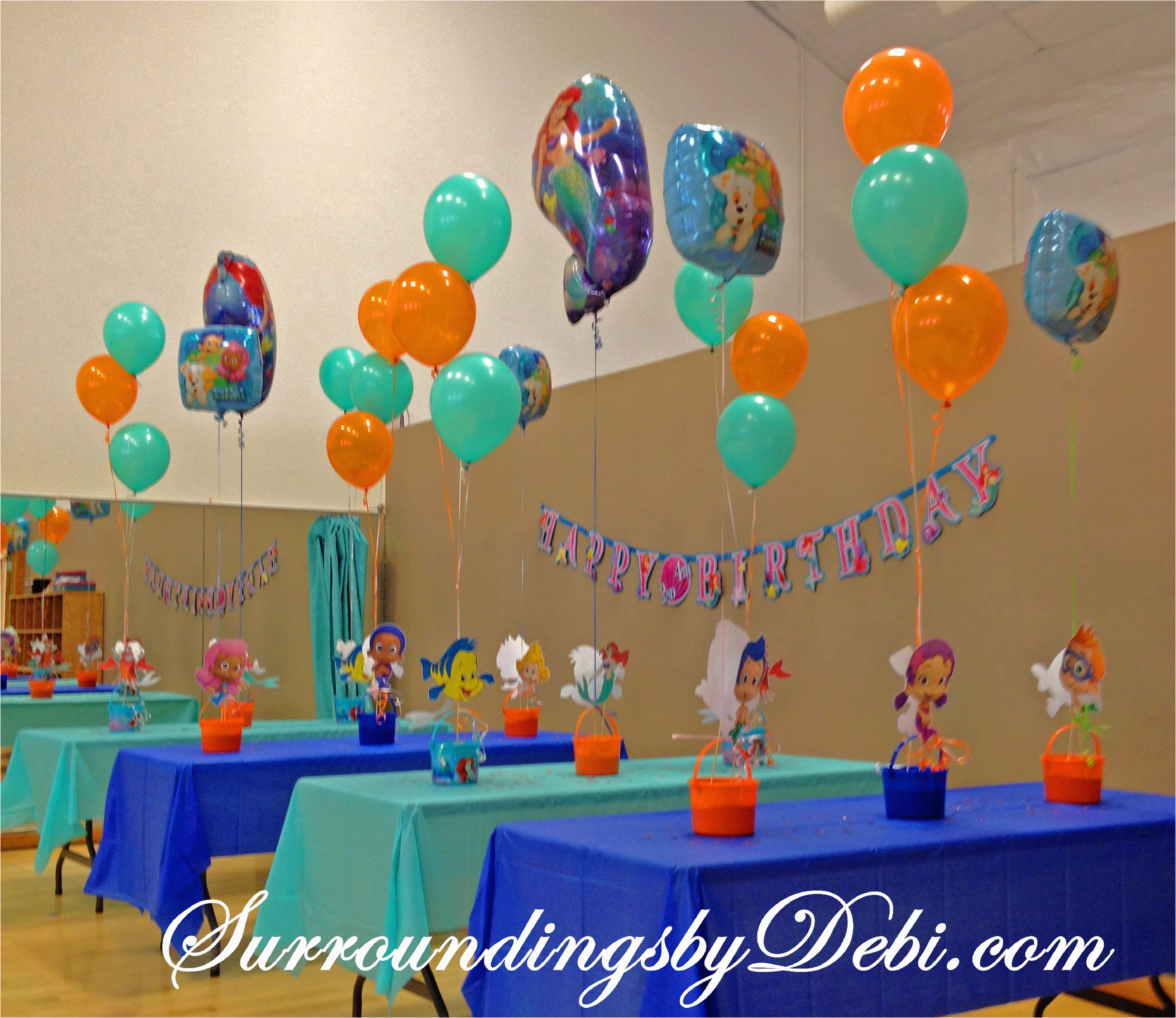 lets celebrate bubble guppies ariel birthday party