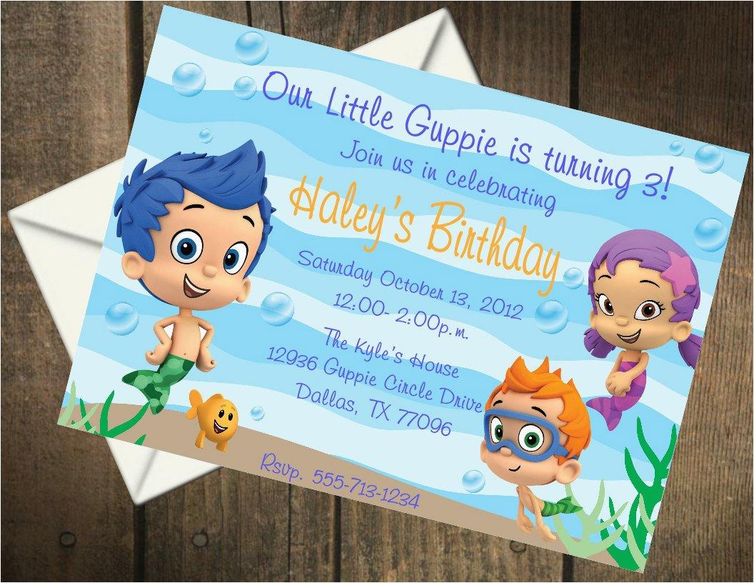 bubble guppies birthday party printable