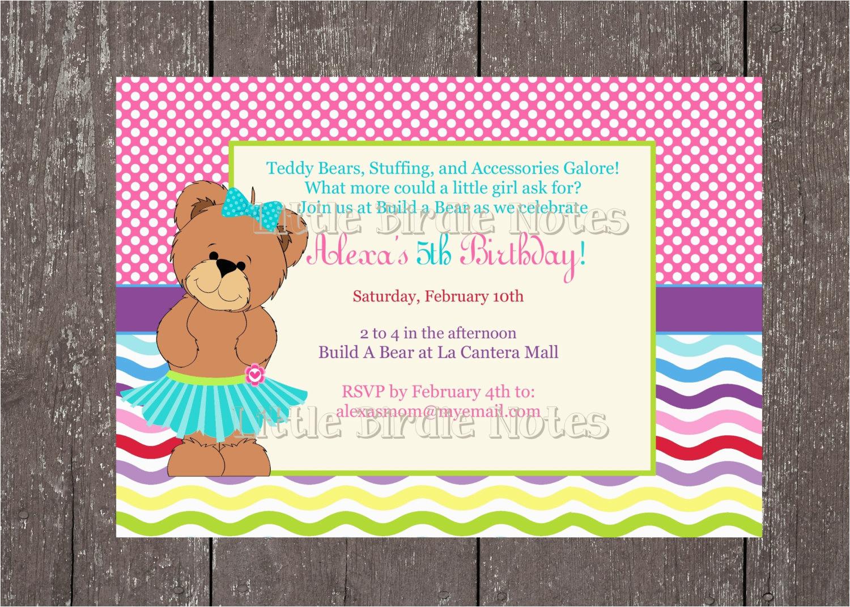 Teddy Bear Party Build A Birthday