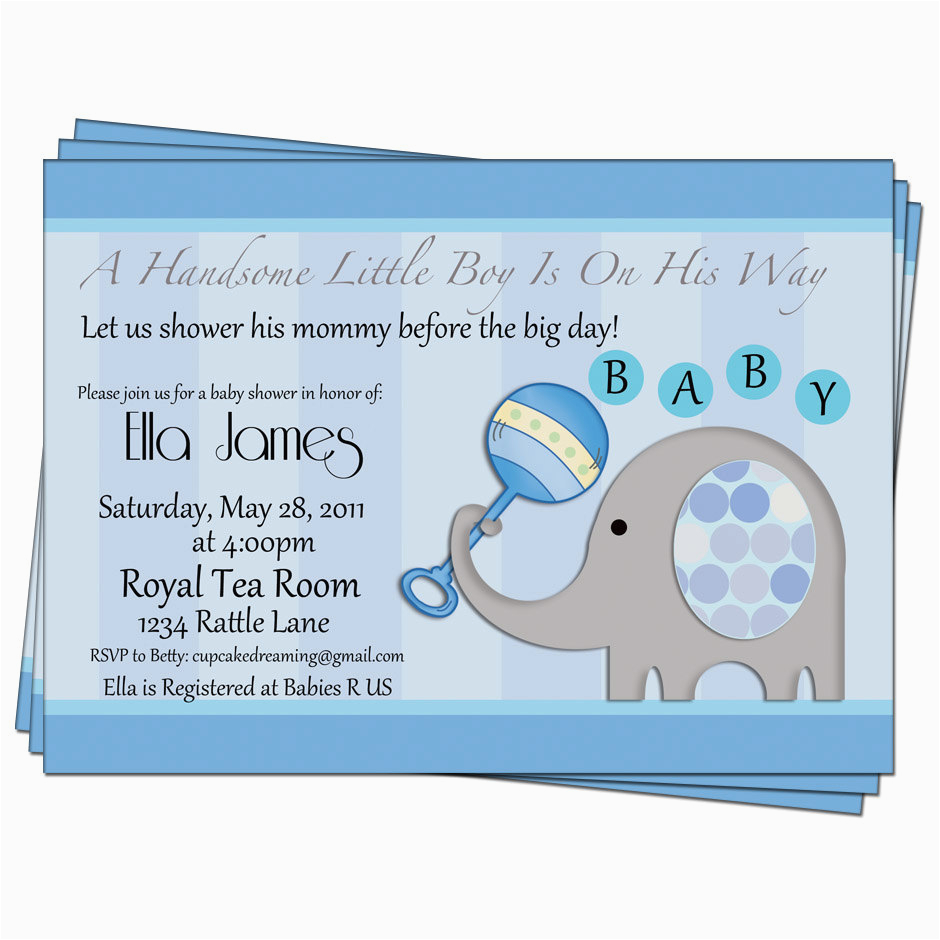 cheap baby shower invitations for boy in bulk