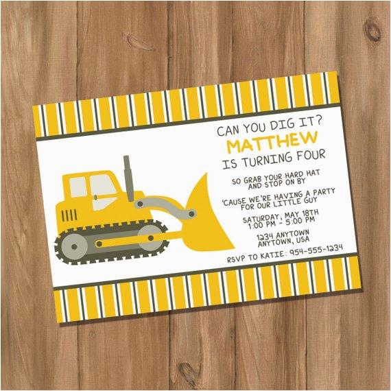 bulldozer truck dump truck birthday
