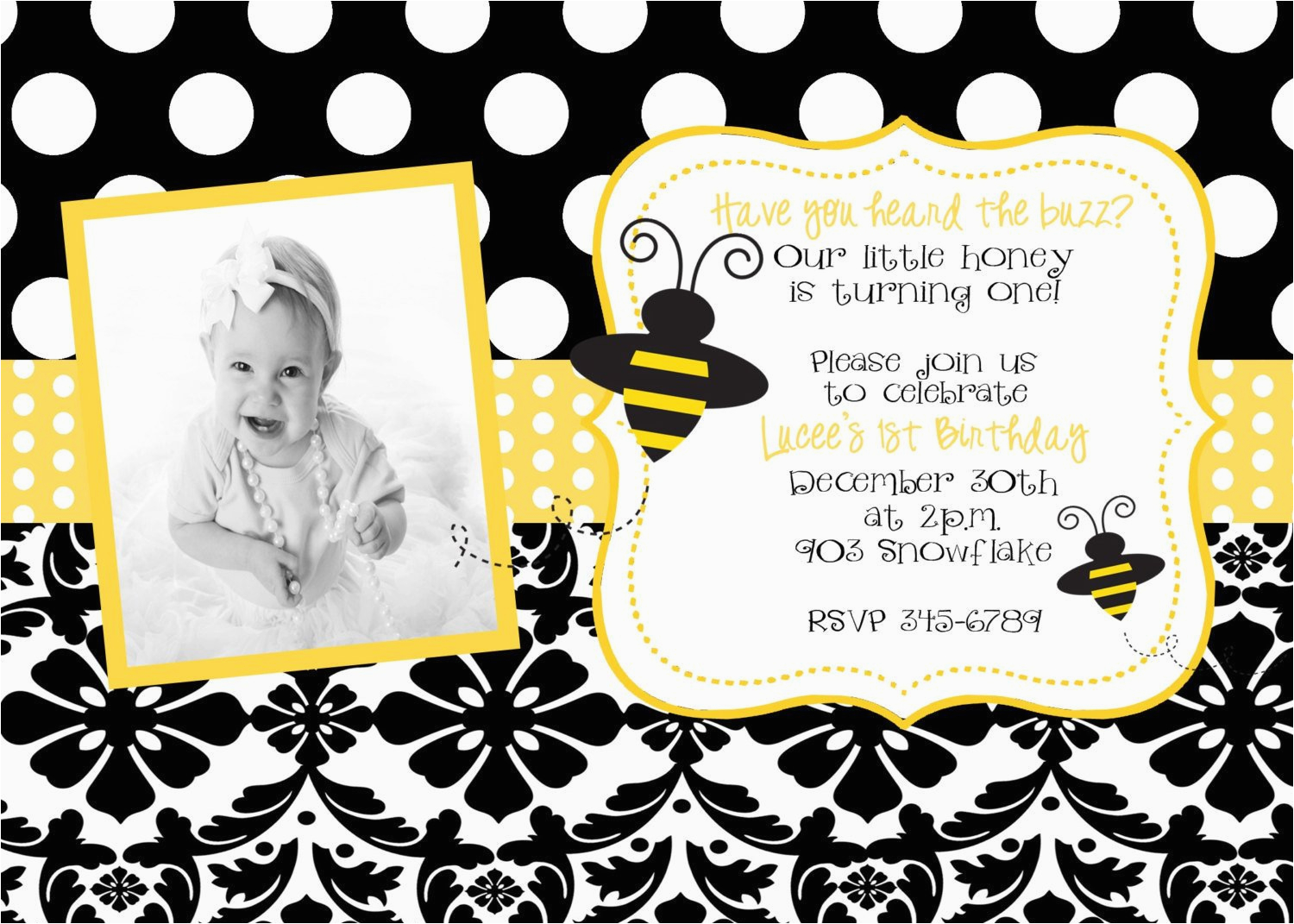bumble bee birthday party or baby shower