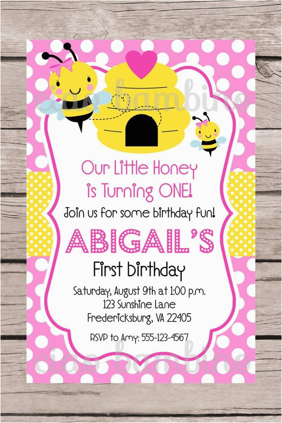 printable pink bumble bee birthday party