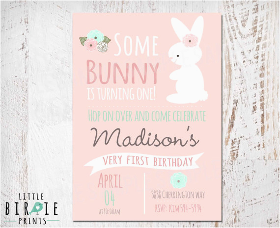 Bunny Birthday Invitation Template Bunny Birthday Invitation Template Free Birthday Tale