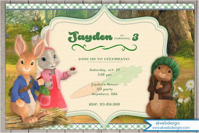 Bunny Birthday Invitation Template Nick Jr 39 S Peter Rabbit