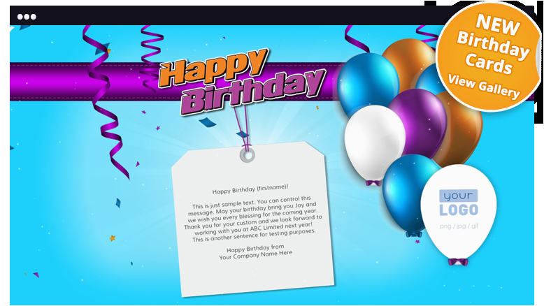 birthday ecards for business