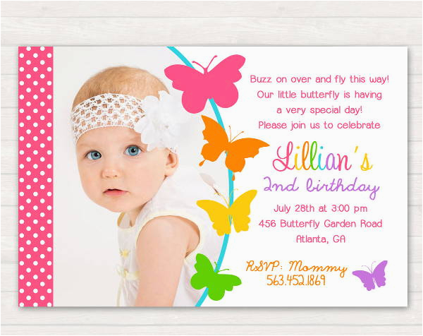 Butterfly Birthday Invitation Wording 8 Butterfly Invitations Free