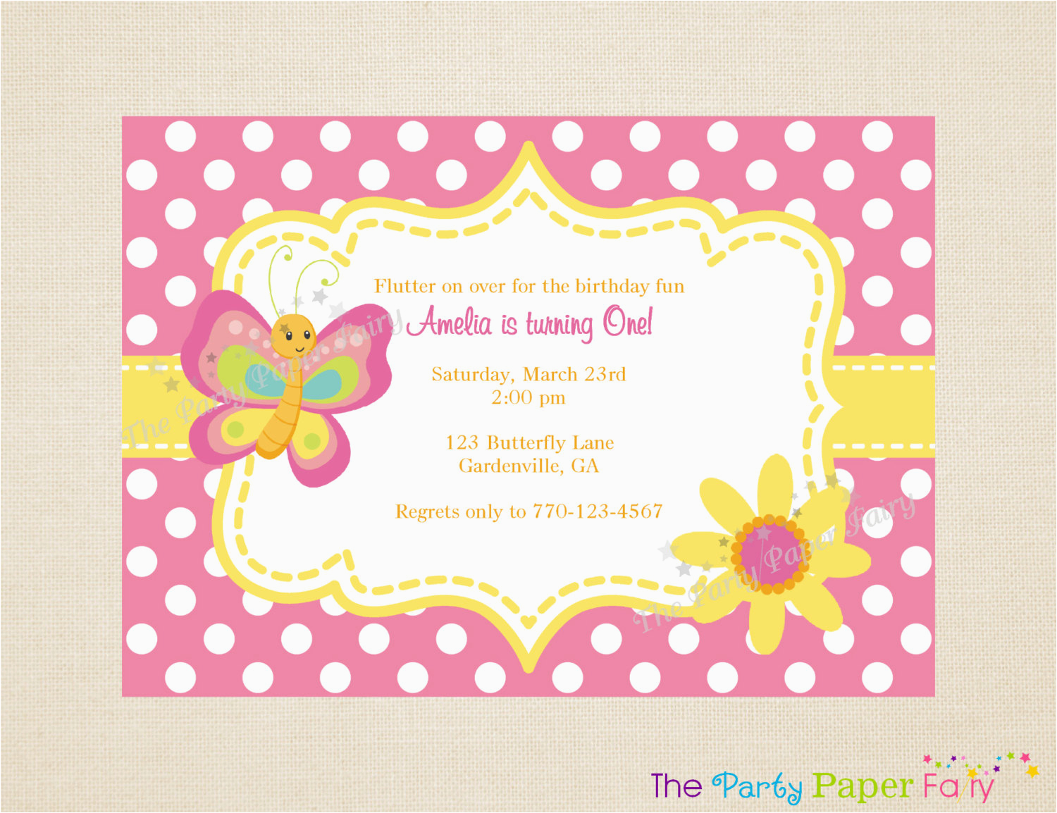 Butterfly Birthday Invitations Free Printable