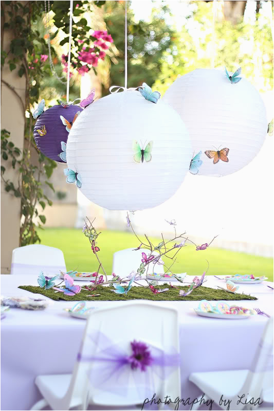 Butterfly Decorations for Birthday Party butterfly Birthday Party ashley Hackshaw Lil Blue Boo