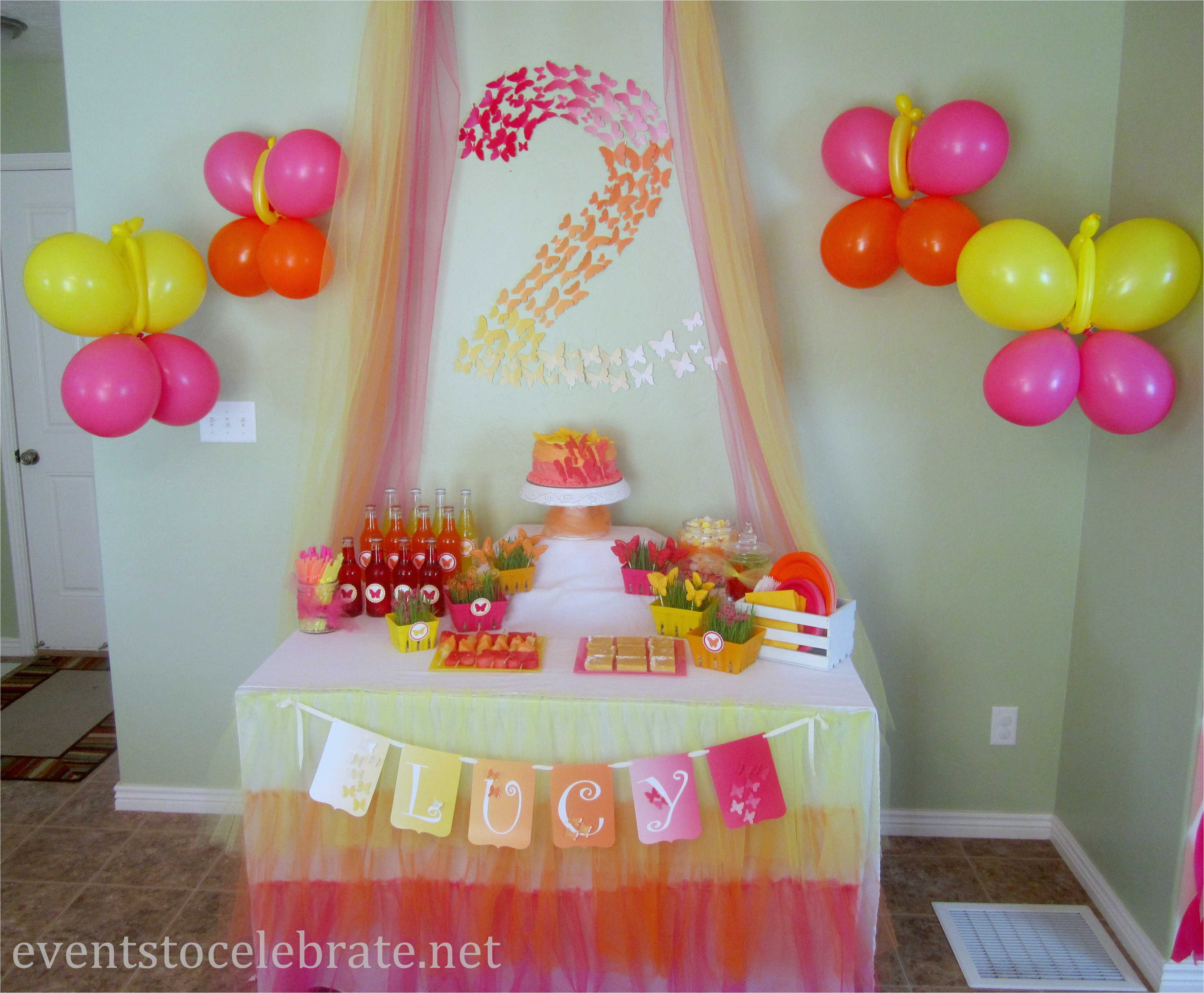 butterfly themed birthday party food desserts