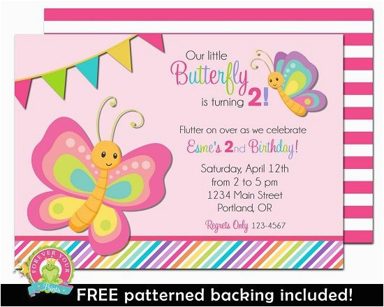 butterfly birthday invitation girls butterfly party