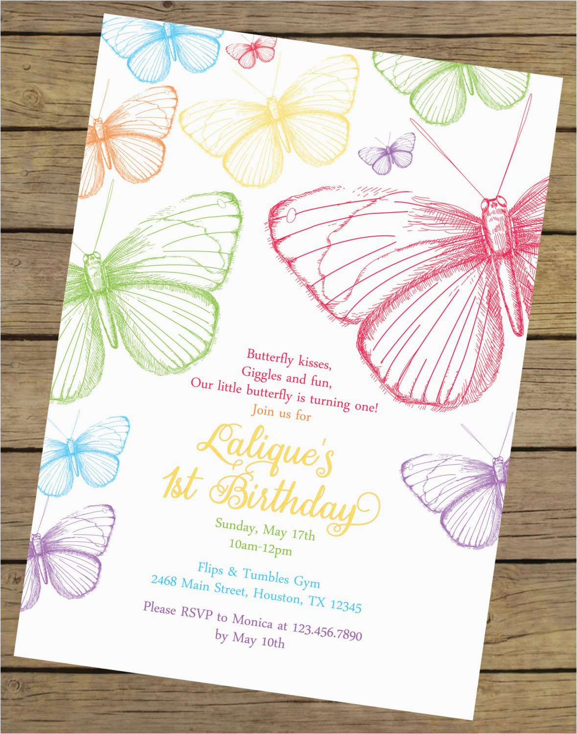 rainbow butterfly birthday invitation butterfly birthday