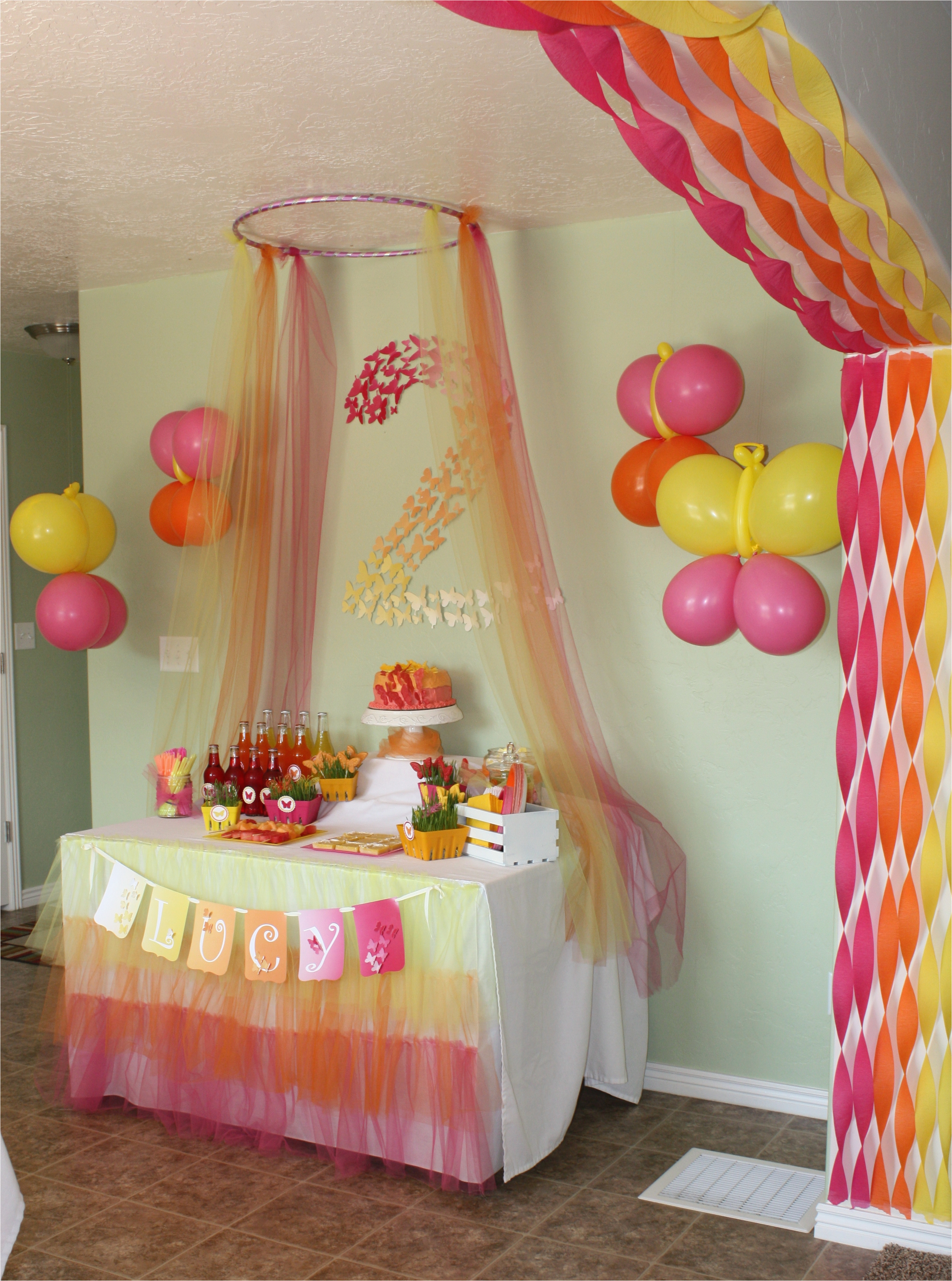 butterfly themed birthday party decorations