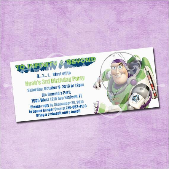Buzz Lightyear Birthday Invitations Buzz Lightyear Birthday Invitation by Freshinkstationery