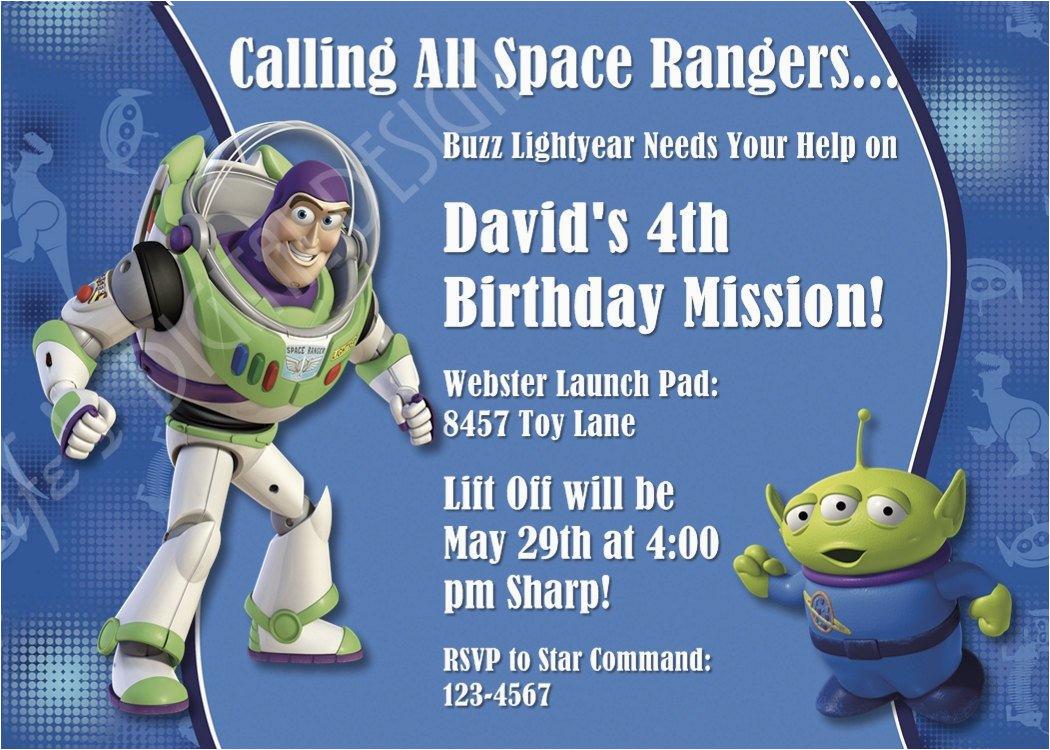 Buzz Lightyear Birthday Invitations Buzz Lightyear Birthday Invitation toy Story Invitation Photo