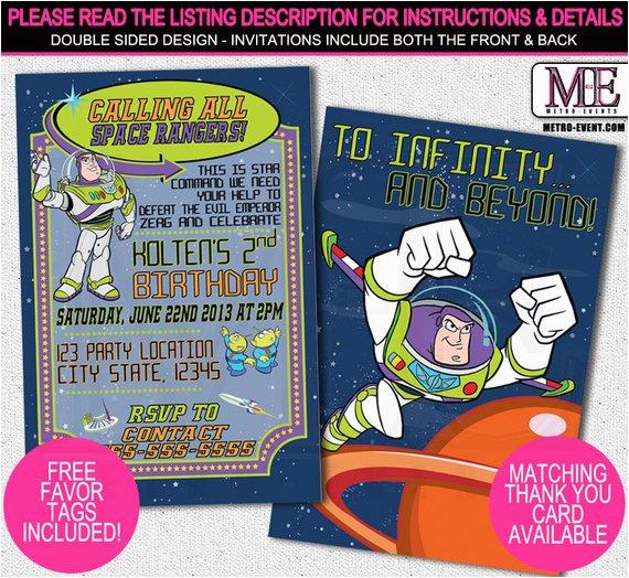 Buzz Lightyear Birthday Invitations Buzz Lightyear Birthday Invitations toy Story Invitations