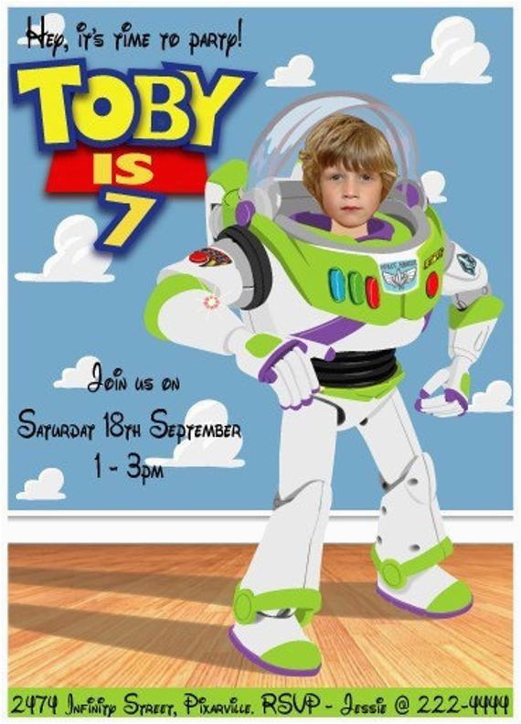 Buzz Lightyear Birthday Invitations Buzz Lightyear Birthday Party Invitation Personalized with