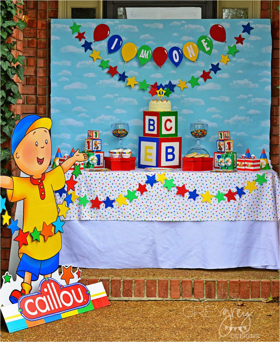 caillou party and giveaway with