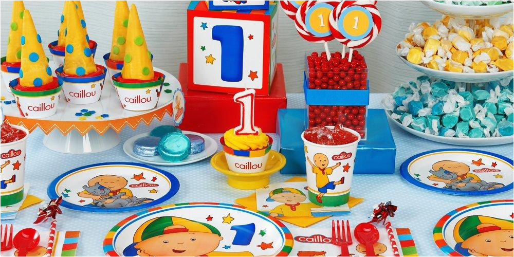 caillou 1st birthday party supplies