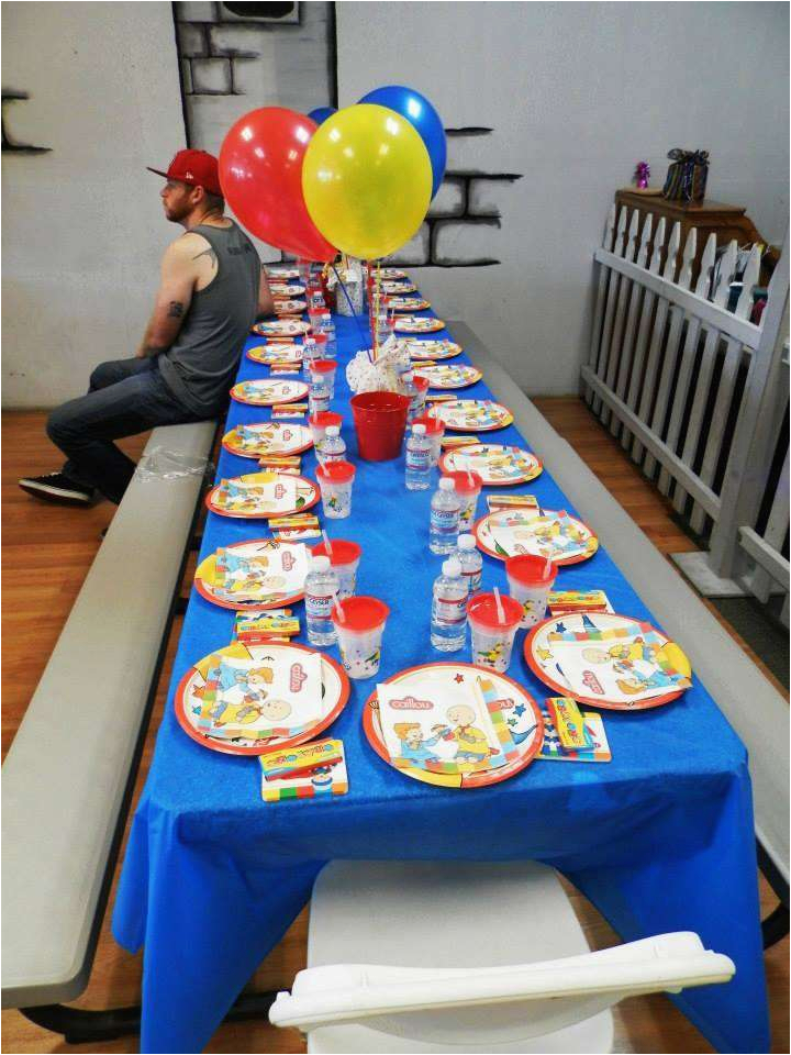 Caillou Birthday Party Decorations Caillou Birthday Party Ideas Photo 6 Of 13 Catch My Party