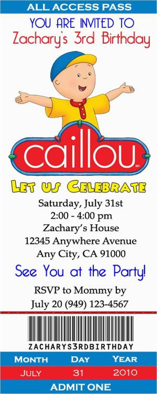 caillou birthday invitations 12 pcs