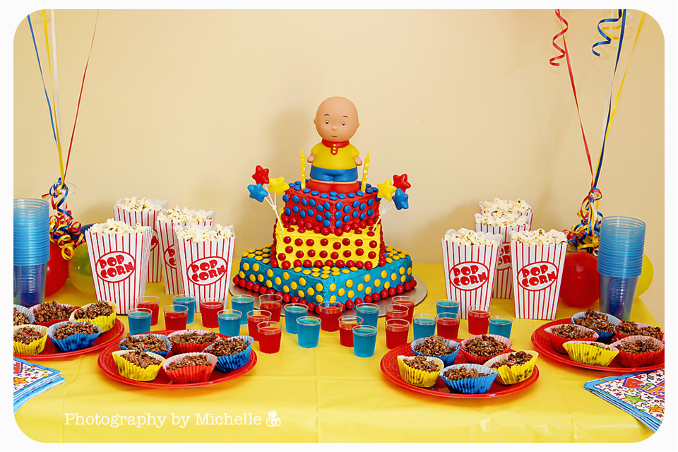 Caillou Party Decorations Birthday Photography by Michelle William 39 S Caillou Party