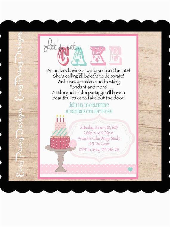 lets eat cake diy digital invitations