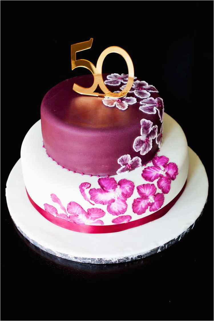 Cake Decorations For 50th Birthday Elegant Ideas