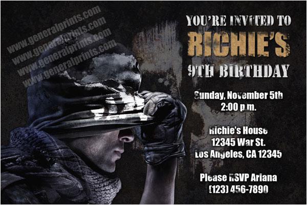 call of duty invitations