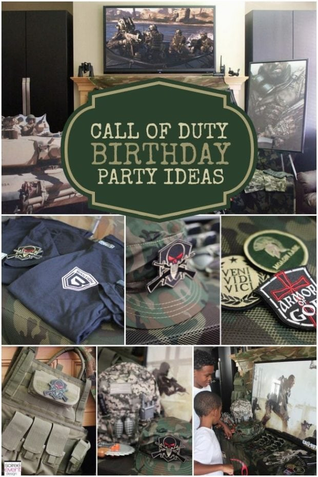 Call Of Duty Birthday Party Decorations A Call Of Duty Inspired Video Game Party Spaceships and