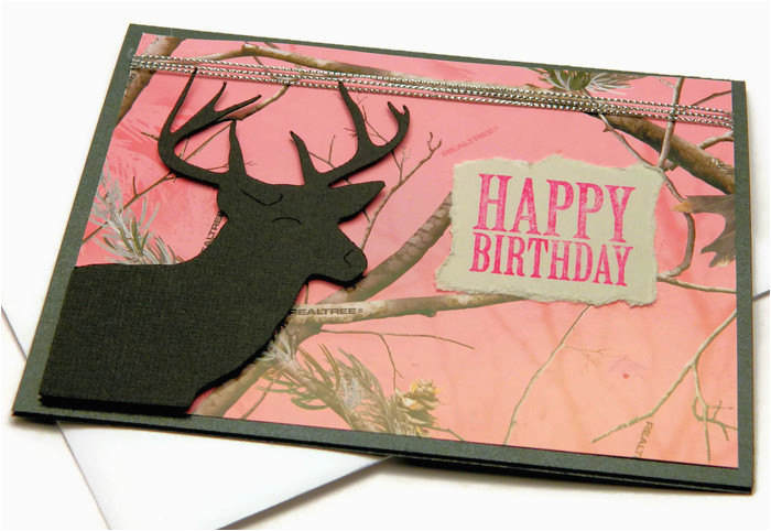 birthday cards happy birthday card camouflage cards pink