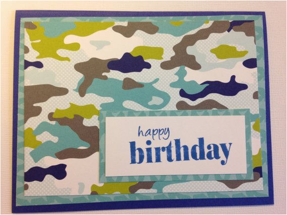 camo birthday card camouflage card camoflage by