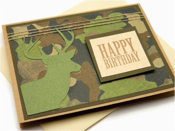 deer birthday card camouflage birthday card cards for
